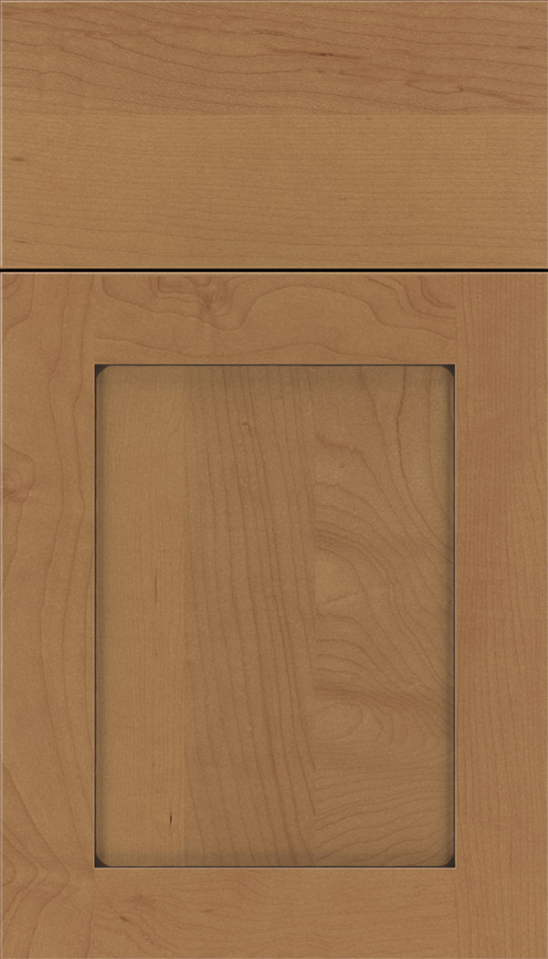 Plymouth Maple shaker cabinet door in Nutmeg with Mocha glaze