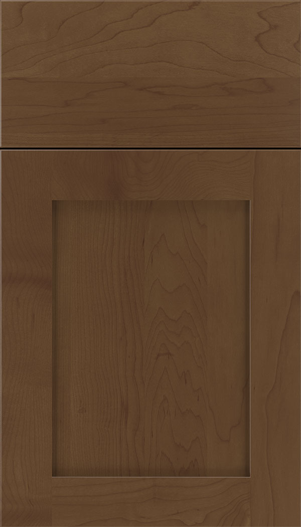 Plymouth Maple shaker cabinet door in Sienna