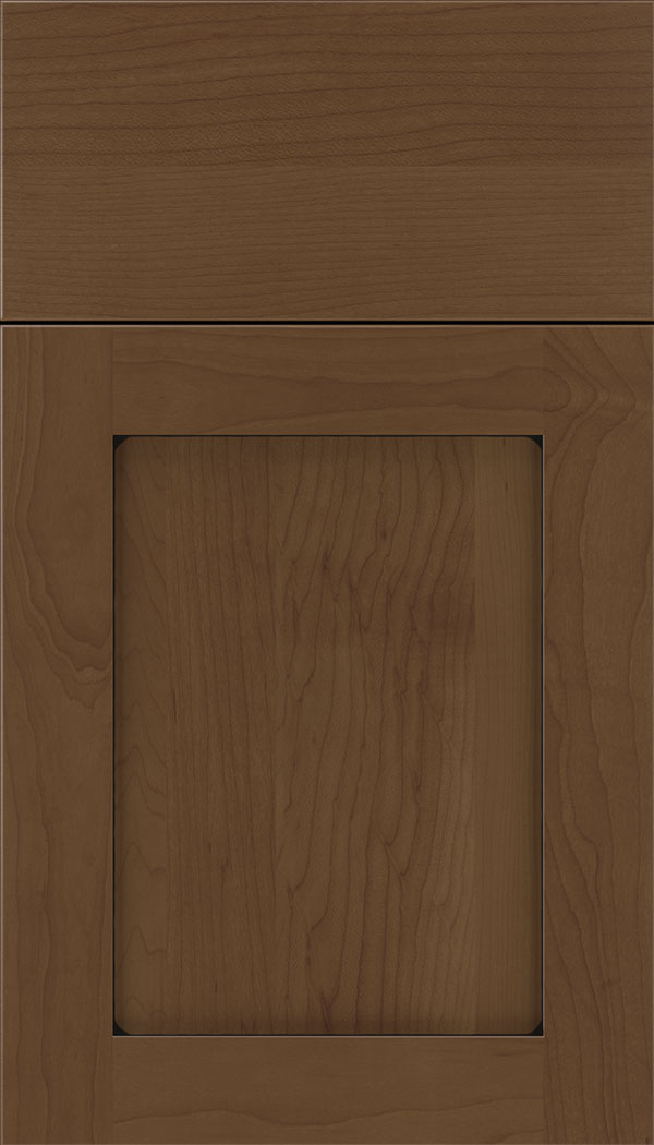 Plymouth Maple shaker cabinet door in Sienna with Black glaze