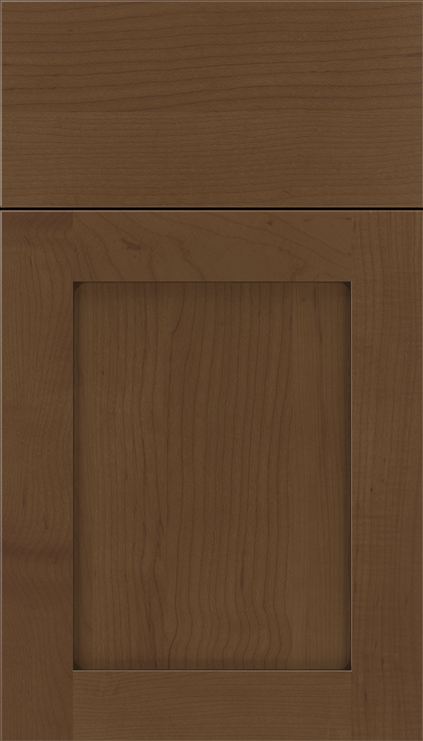 Plymouth Maple shaker cabinet door in Sienna with Mocha glaze