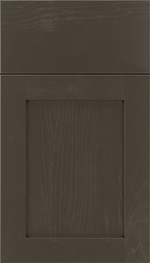 Plymouth Maple shaker cabinet door in Thunder with Black glaze