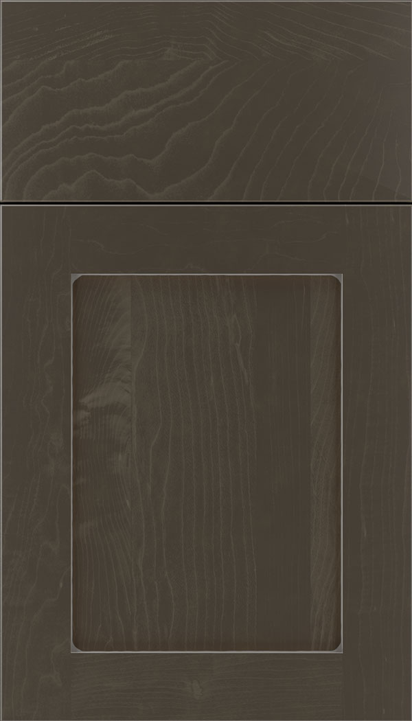 Plymouth Maple shaker cabinet door in Thunder with Pewter glaze