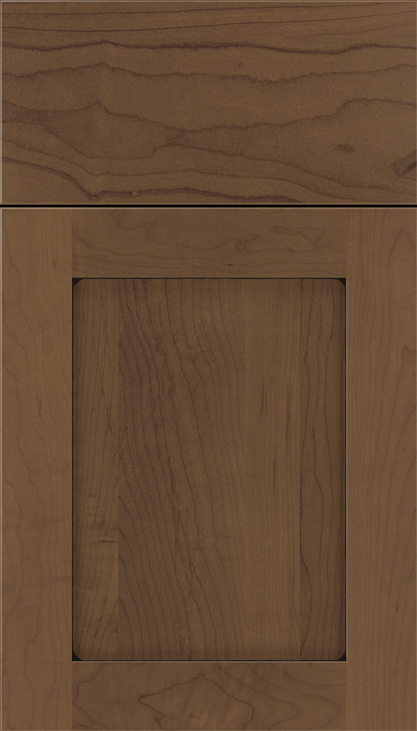 Plymouth Maple shaker cabinet door in Toffee with Black glaze
