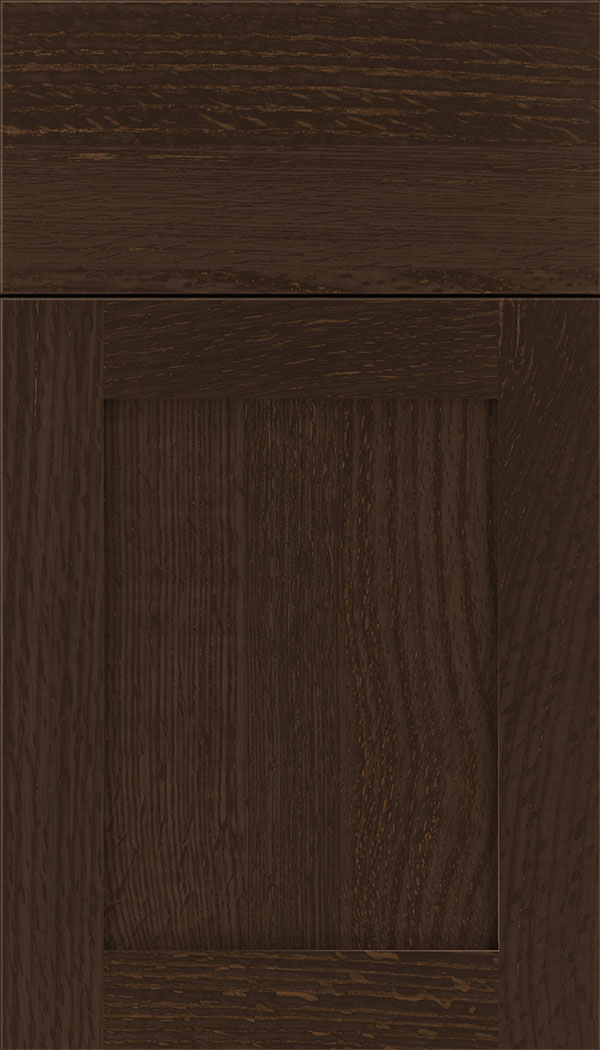 Plymouth Rift Oak shaker cabinet door in Cappuccino