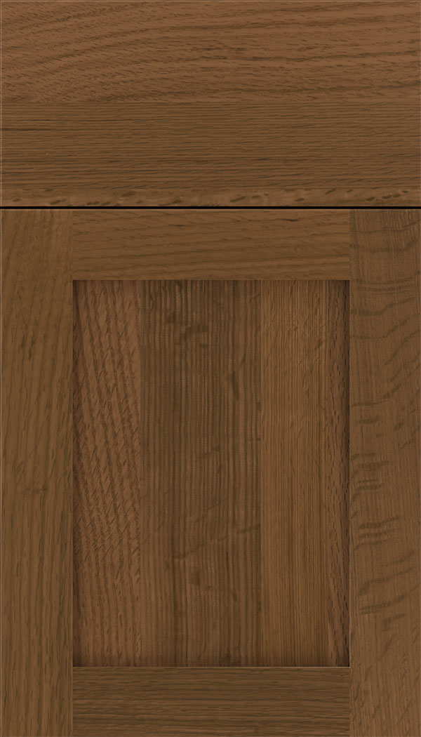 Plymouth Rift Oak shaker cabinet door in Sienna