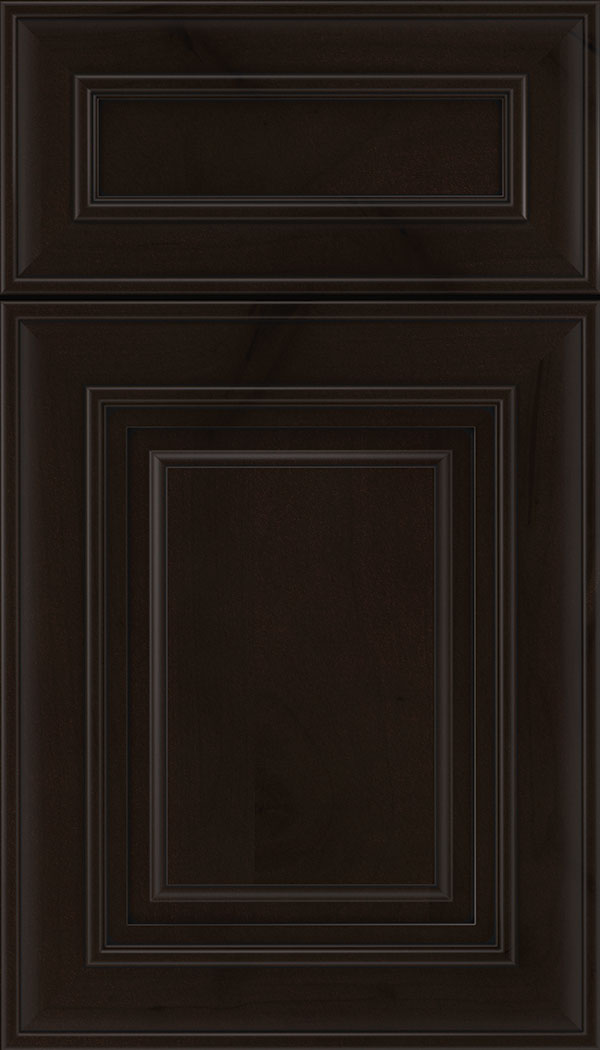 Regency 5pc Alder raised panel cabinet door in Espresso with Black glaze