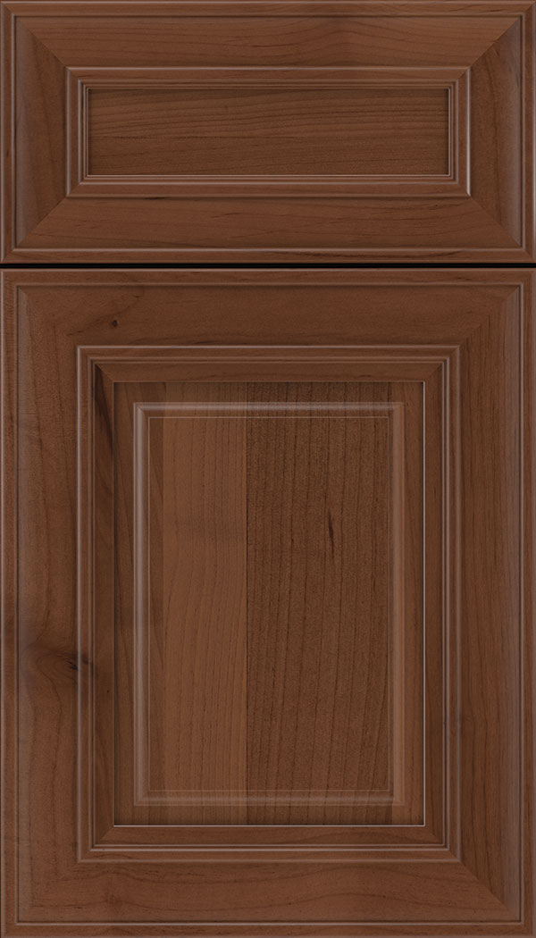 Regency 5pc Alder raised panel cabinet door in Russet