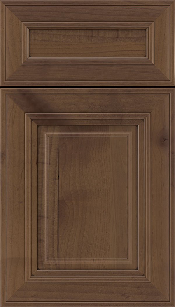 Regency 5pc Alder raised panel cabinet door in Sienna with Mocha glaze