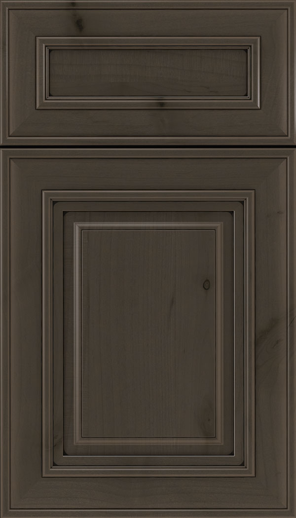 Regency 5pc Alder raised panel cabinet door in Thunder with Black glaze