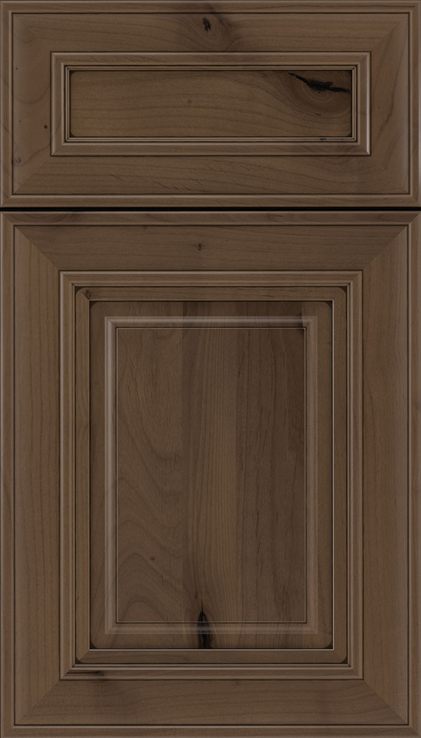 Regency 5pc Alder raised panel cabinet door in Toffee with Black glaze
