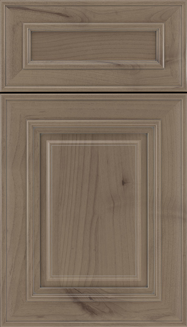Regency 5pc Alder raised panel cabinet door in Winter with Pewter glaze