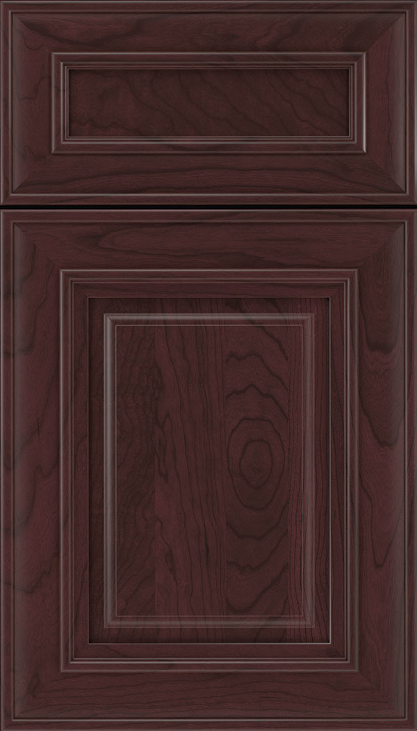 Regency 5pc Cherry raised panel cabinet door in Bordeaux