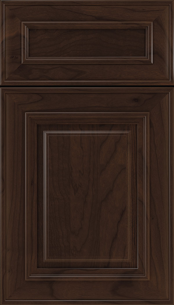 Regency 5pc Cherry raised panel cabinet door in Cappuccino