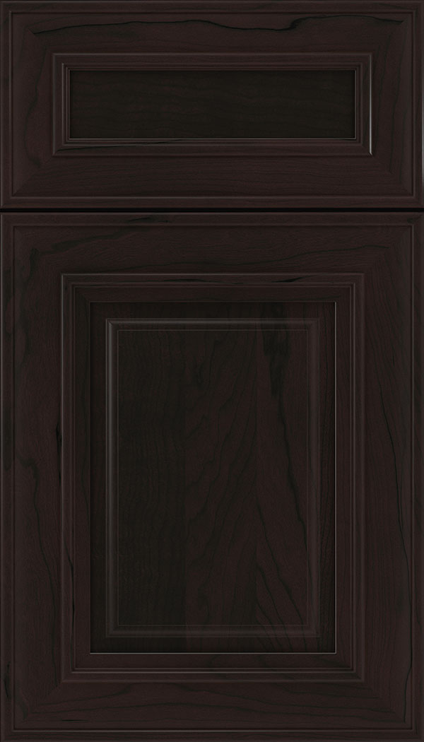 Regency 5pc Cherry raised panel cabinet door in Espresso