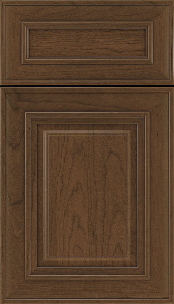 Regency 5pc Cherry raised panel cabinet door in Sienna with Mocha glaze