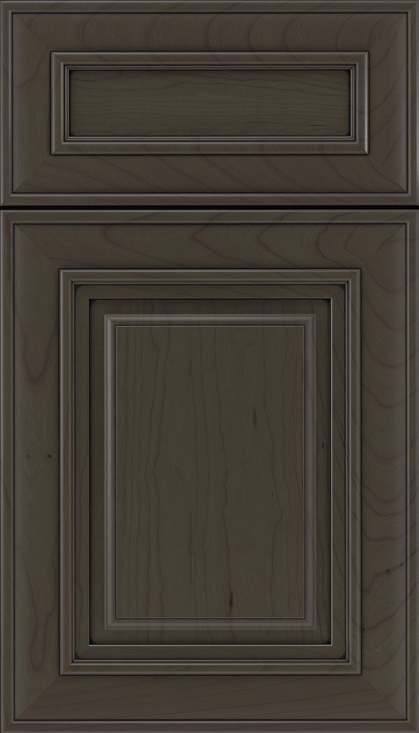 Regency 5pc Cherry raised panel cabinet door in Thunder with Black glaze