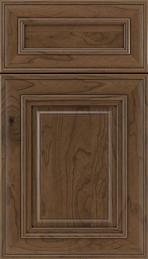 Regency 5pc Cherry raised panel cabinet door in Toffee with Mocha glaze