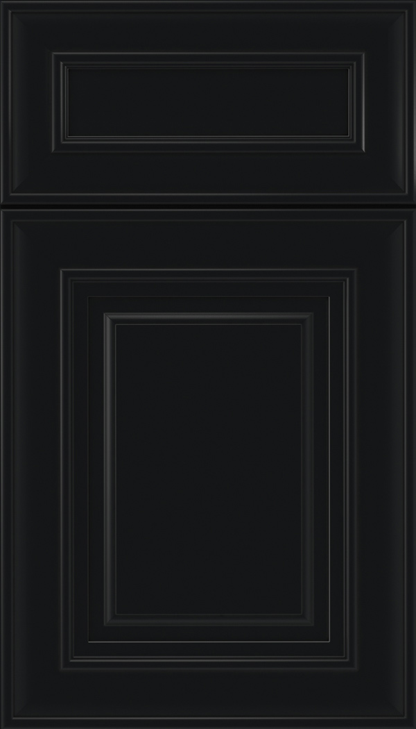 Regency 5pc Maple raised panel cabinet door in Black