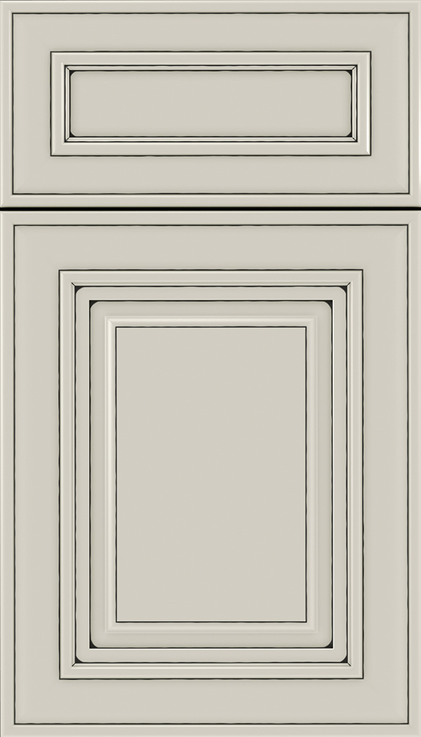 Regency 5pc Maple raised panel cabinet door in Cirrus with Black glaze
