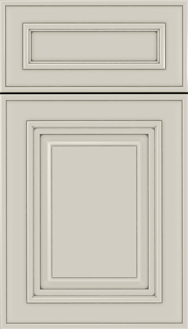 Regency 5pc Maple raised panel cabinet door in Cirrus with Pewter glaze