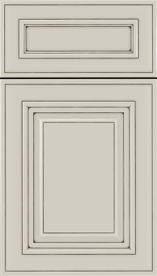 Regency 5pc Maple raised panel cabinet door in Cirrus with Smoke glaze