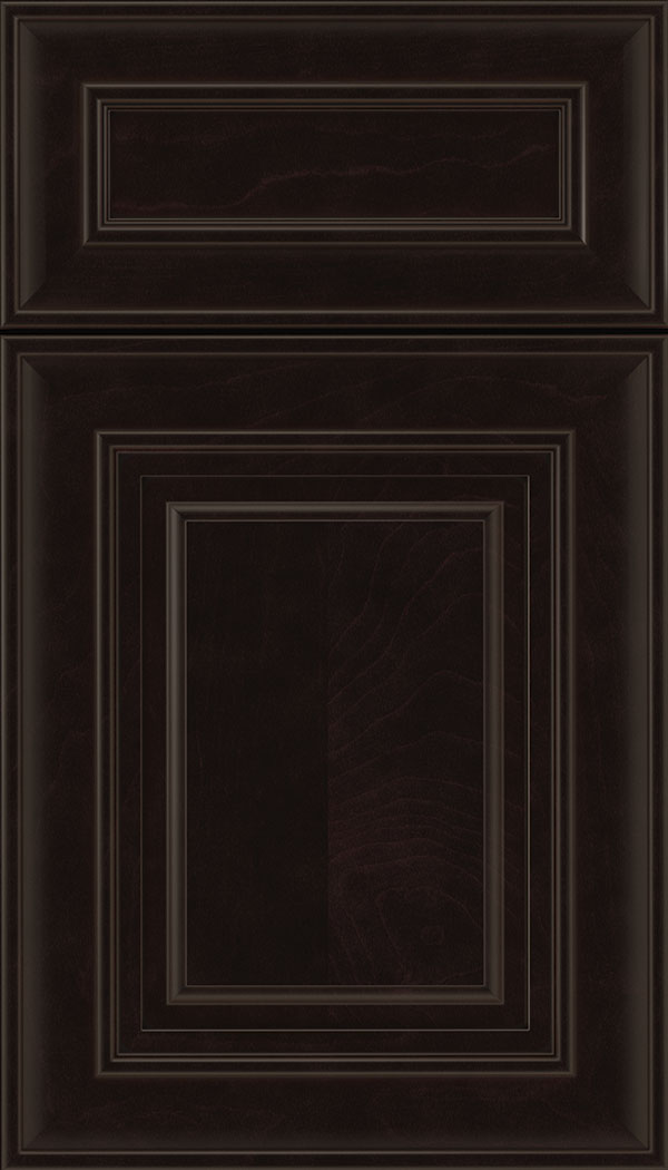 Regency 5pc Maple raised panel cabinet door in Espresso with Black glaze