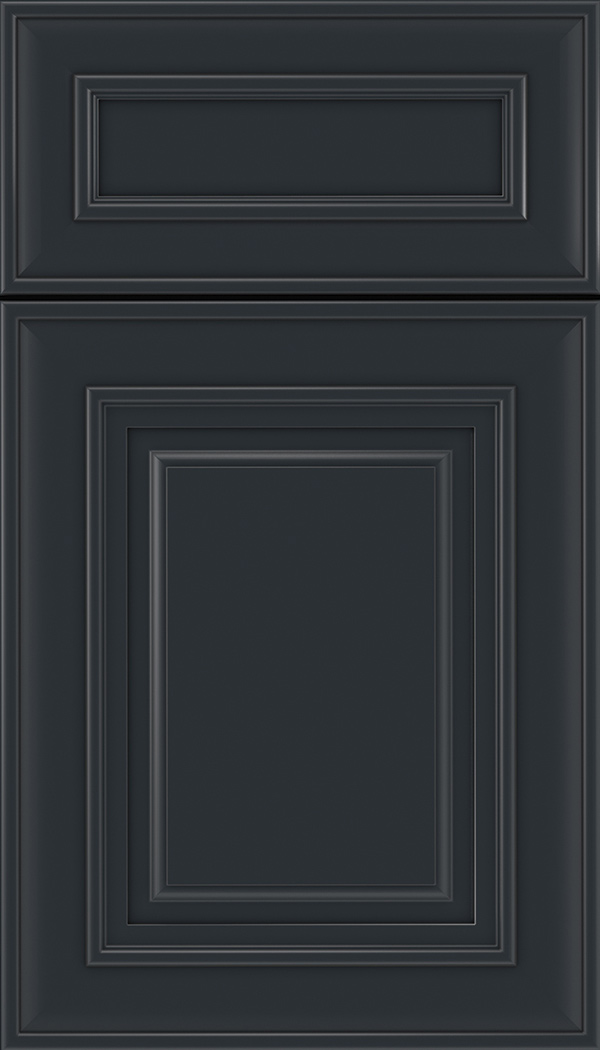 Regency 5pc Maple raised panel cabinet door in Gunmetal Blue