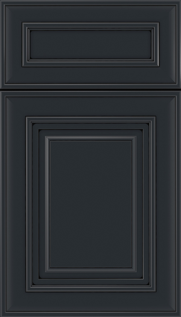 Regency 5pc Maple raised panel cabinet door in Gunmetal Blue with Black glaze
