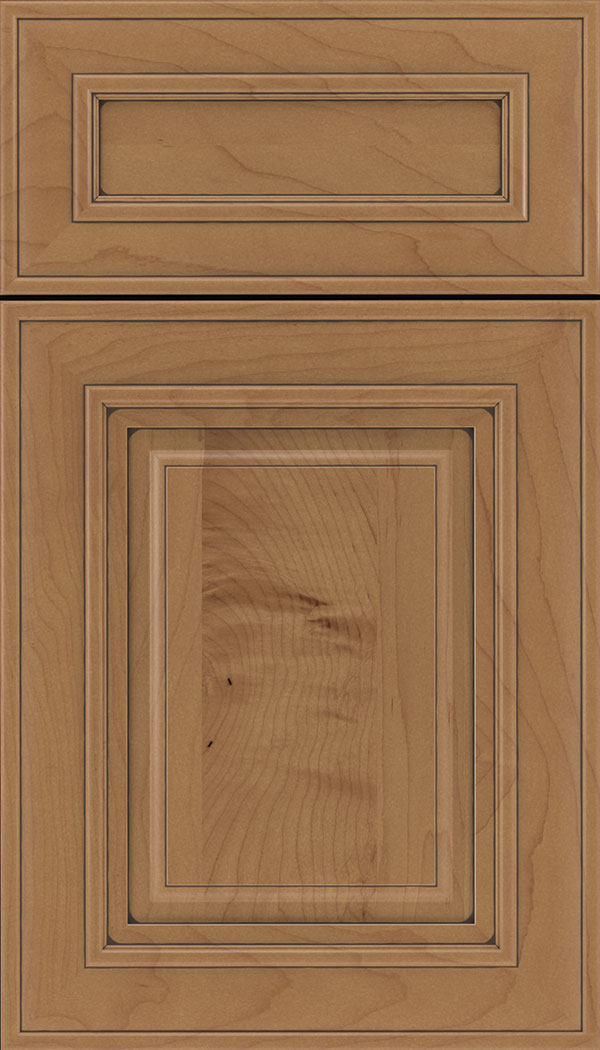 Regency 5pc Maple raised panel cabinet door in Nutmeg with Mocha glaze