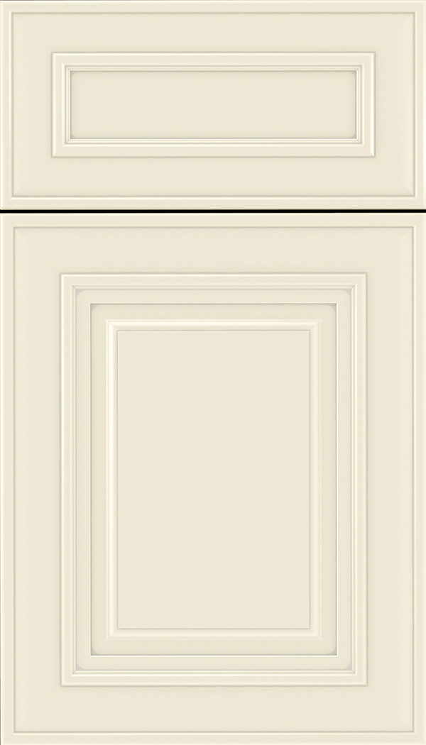 Regency 5pc Maple raised panel cabinet door in Seashell with Pewter glaze