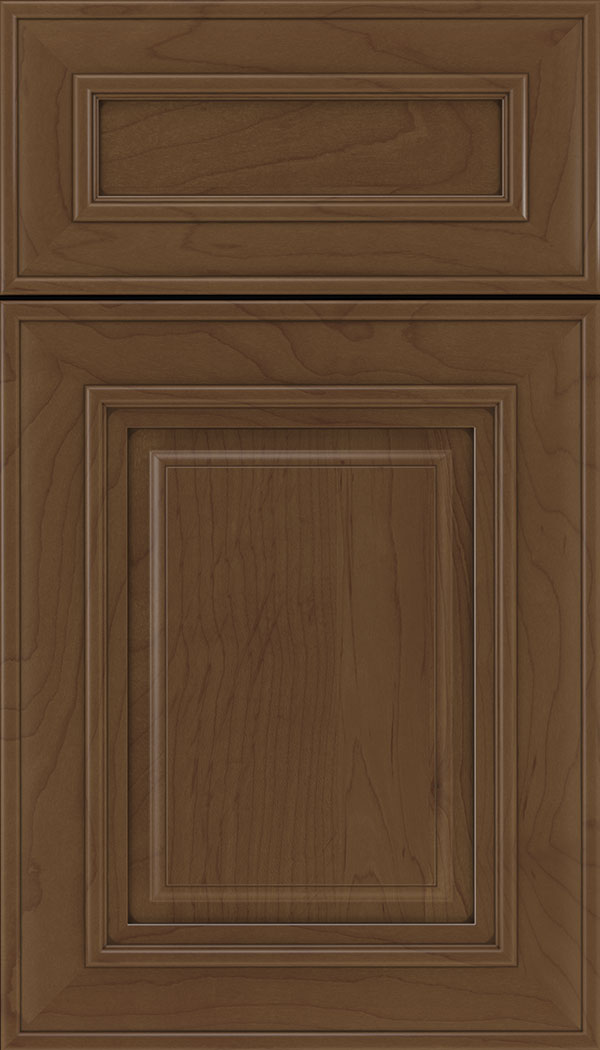 Regency 5pc Maple raised panel cabinet door in Sienna with Mocha glaze