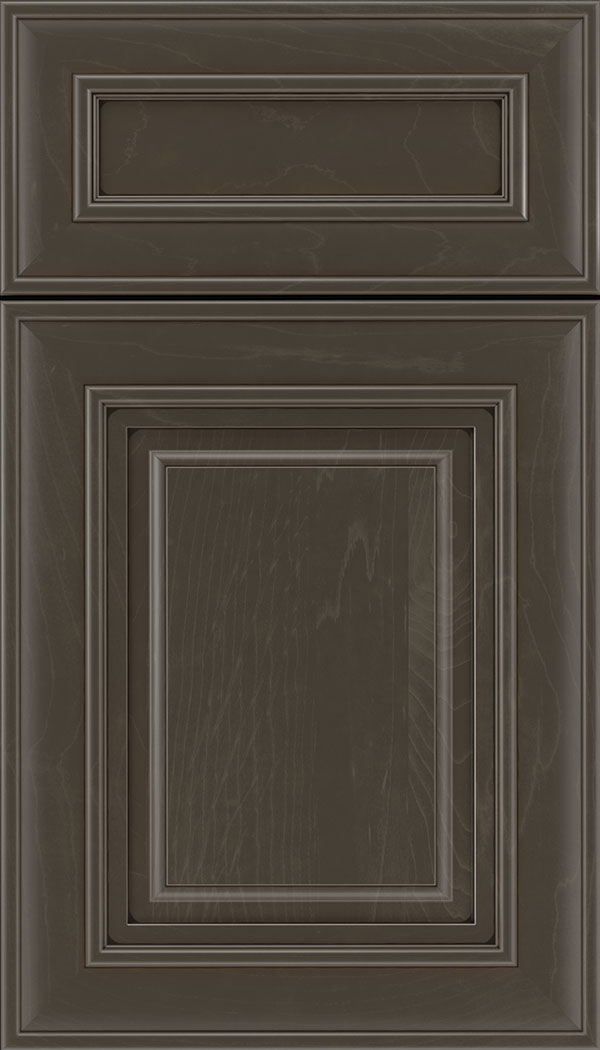 Regency 5pc Maple raised panel cabinet door in Thunder with Black glaze