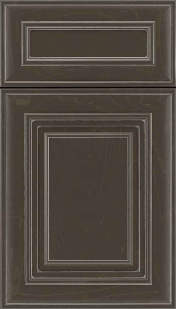 Regency 5pc Maple raised panel cabinet door in Thunder with Pewter glaze