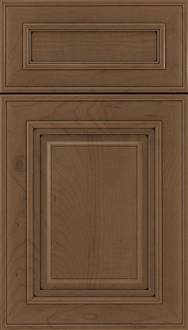 Regency 5pc Maple raised panel cabinet door in Toffee with Black glaze