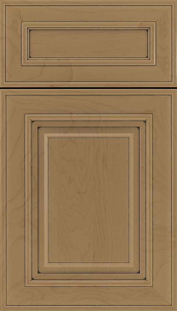 Regency 5pc Maple raised panel cabinet door in Tuscan with Black glaze