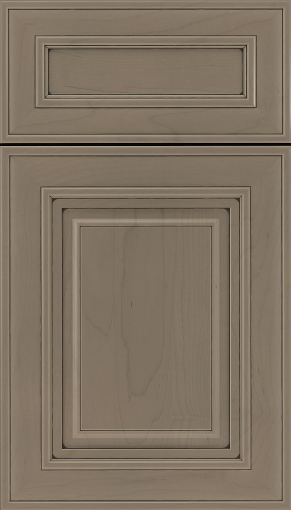 Regency 5pc Maple raised panel cabinet door in Winter with Black glaze