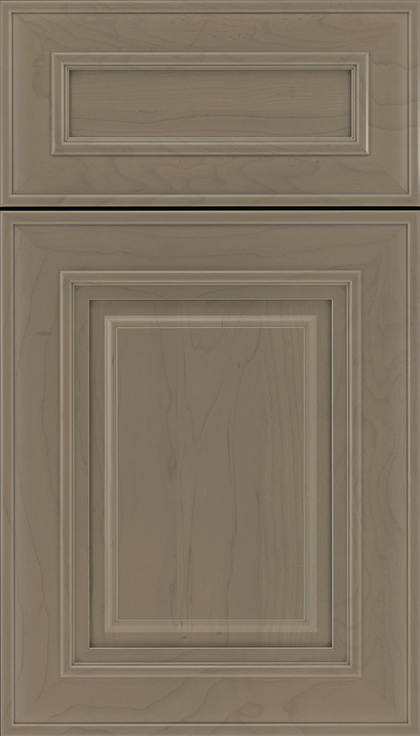 Regency 5pc Maple raised panel cabinet door in Winter with Pewter glaze