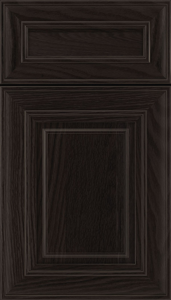 Regency 5pc Oak raised panel cabinet door in Charcoal