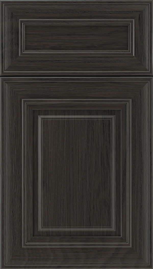 Regency 5pc Oak raised panel cabinet door in Weathered Slate
