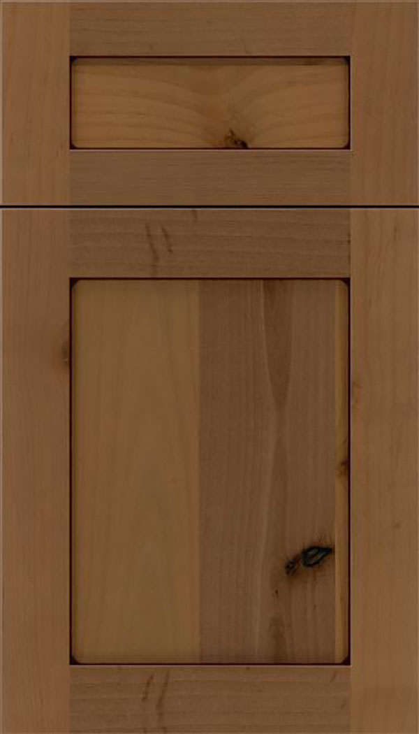 Salem 5pc Alder shaker cabinet door in Tuscan with Mocha glaze
