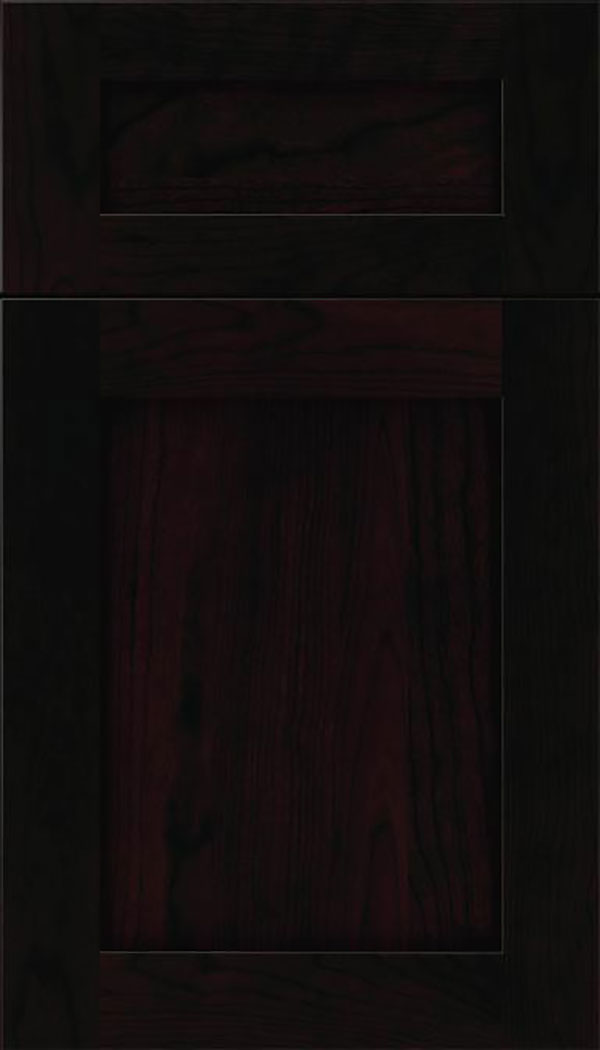 Salem 5pc Cherry shaker cabinet door in Espresso