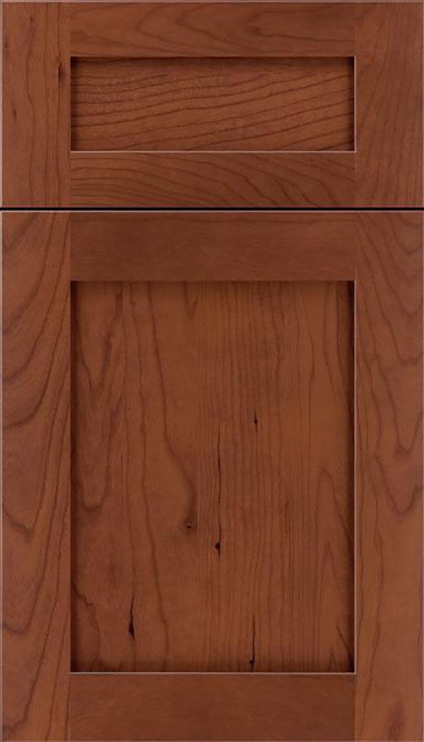 Dark Cherry Cabinets in Casual Kitchen - Kitchen Craft