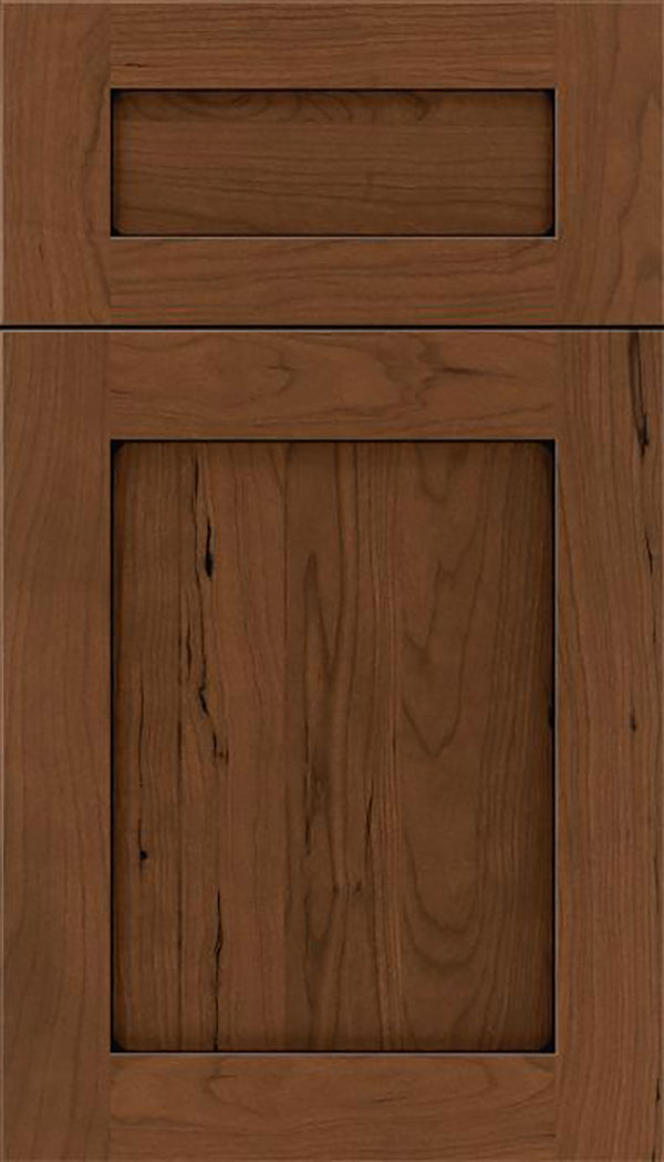 Salem 5pc Cherry shaker cabinet door in Sienna with Black glaze