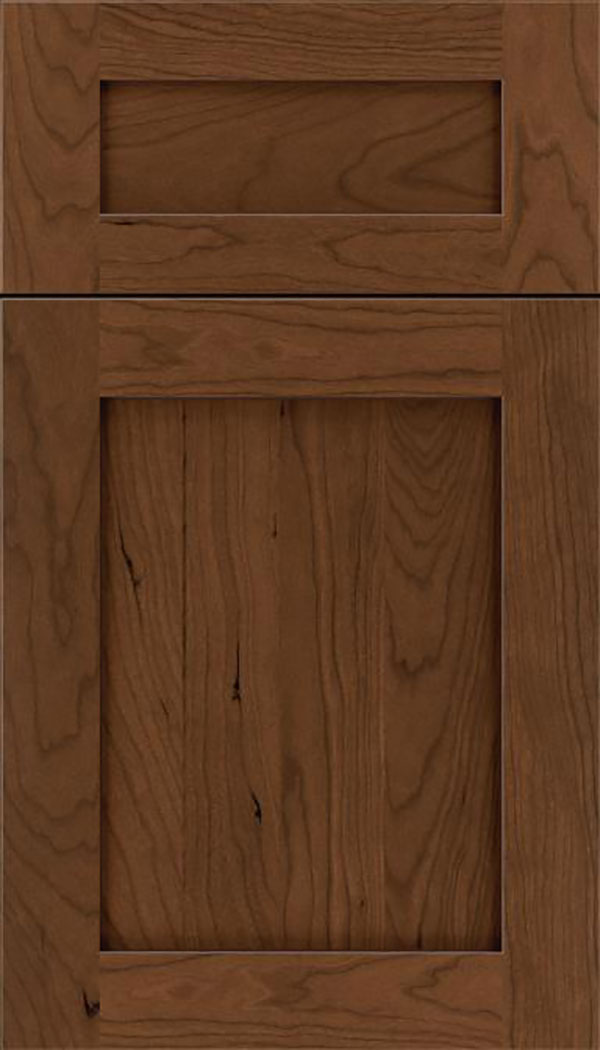 Salem 5pc Cherry shaker cabinet door in Sienna with Mocha glaze