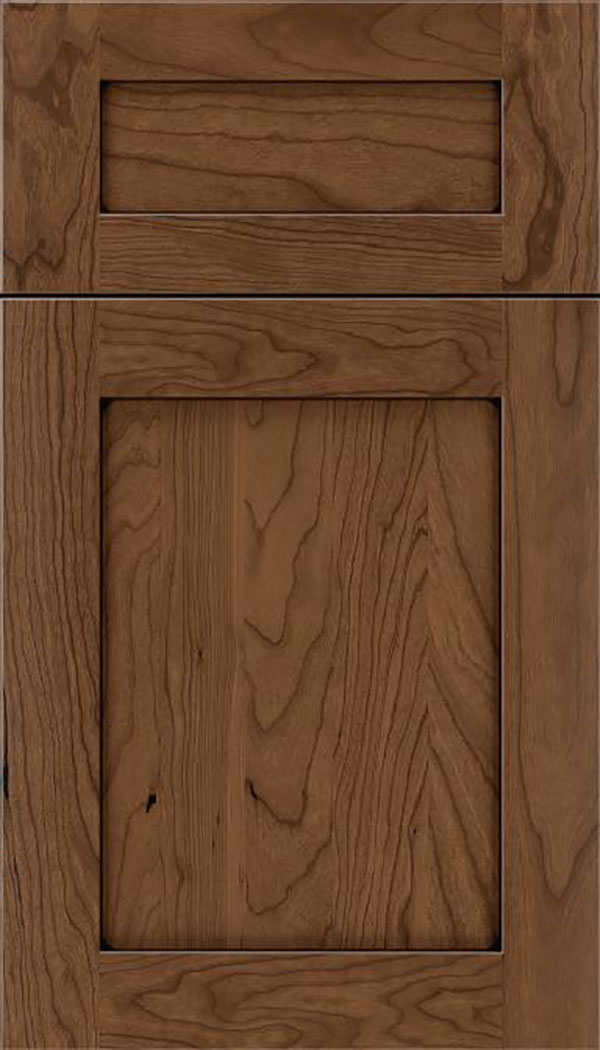 Salem 5pc Cherry shaker cabinet door in Toffee with Mocha glaze