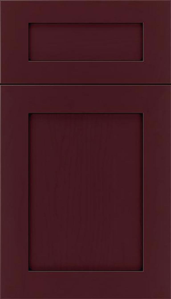 Salem 5pc Maple shaker cabinet door in Bordeaux with Black glaze