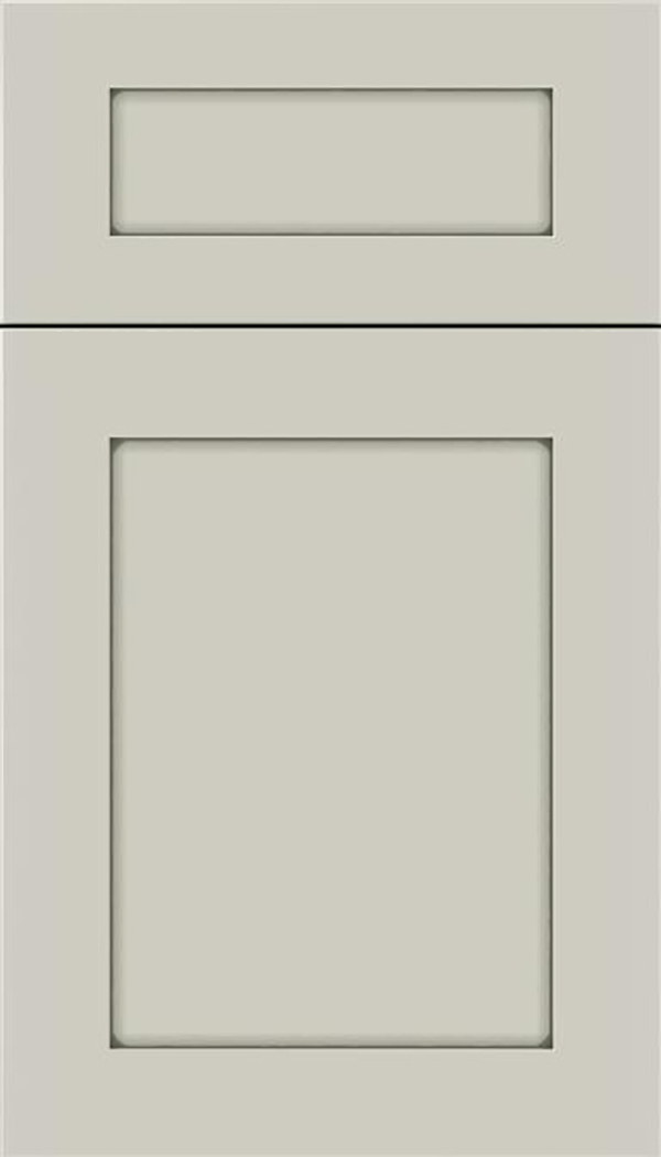 Salem 5pc Maple shaker cabinet door in Cirrus with Pewter glaze