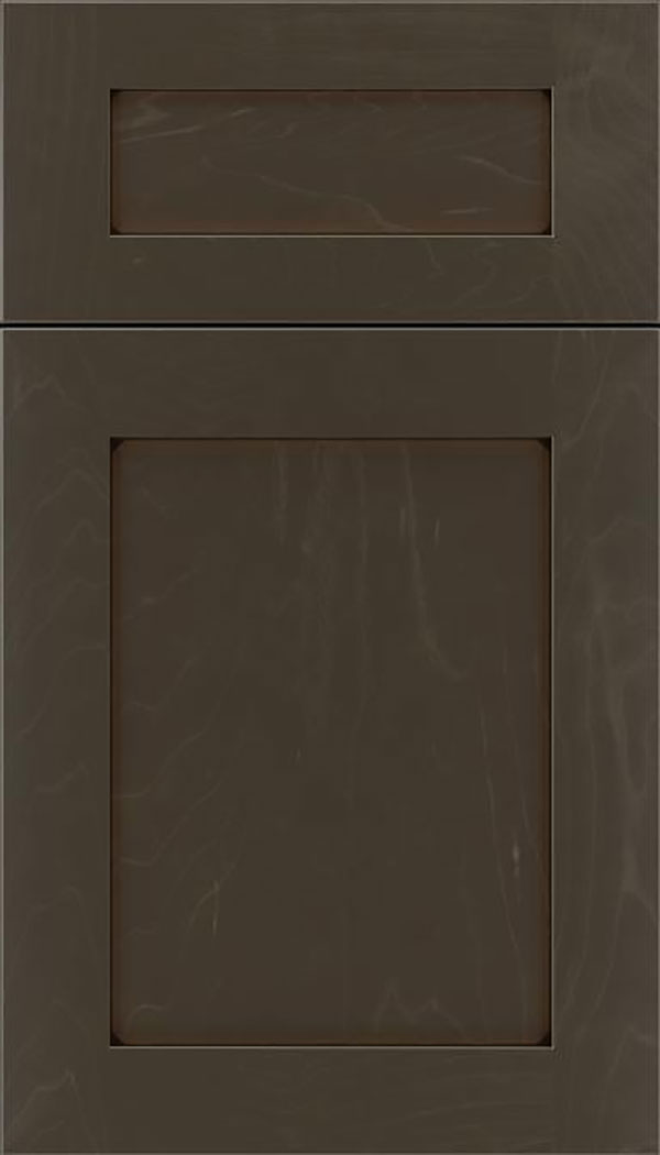 Salem 5pc Maple shaker cabinet door in Thunder with Black glaze
