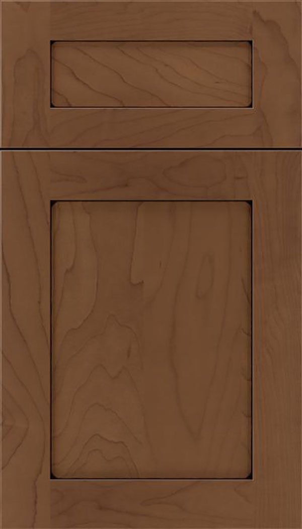 Salem 5pc Maple shaker cabinet door in Toffee with Black glaze