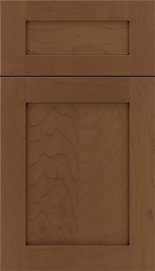 Salem 5pc Maple shaker cabinet door in Toffee with Mocha glaze